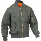 Sage Green Lightweight Air Force MA-1 Military Bomber Flight Jacket