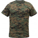 Woodland Digital Camouflage Military Short Sleeve T-Shirt