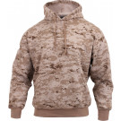 Desert Digital Camouflage Military Hooded Pullover Sweatshirt