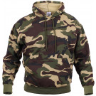 Woodland Camouflage Army Camo Hoodie Pullover Sweatshirt