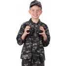 Subdued Urban Digital Camouflage Kids Military BDU Long Sleeve Shirt
