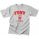 Grey Official FDNY New York City Fire Department T-Shirt