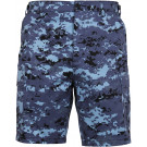 Sky Blue Digital Camouflage Combat Military Cargo BDU Shorts