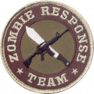 Tan Military Zombie Response Team Patch With Hook Back