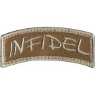 Brown Military Infidel Shoulder Patch With Hook Back