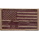 Subdued US Flag Rifle Military Patch