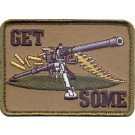 Brown Military Get Some Sniper Patch With Hook Back
