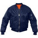 Kids Navy Blue Air Force MA-1 Flight Jacket