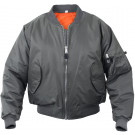 Gun Metal Grey Military Air Force MA-1 Bomber Flight Jacket