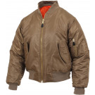 Coyote Brown Military Air Force MA-1 Flight Jacket
