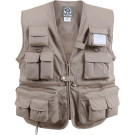 Khaki Uncle Milty Multi-Pocket Fishing & Travel Vest
