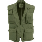 Olive Drab Deluxe Multi-Pocket Safari Outback Hunting Travel Vest