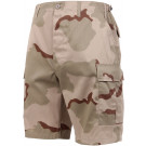 Tri-Color Desert Camouflage Combat Military Cargo BDU Shorts