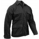 Black Military Polyester/Cotton Fatigue BDU Shirt