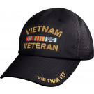 Black Military Vietnam Veteran Mesh Back Low Profile Baseball Cap