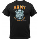 Black Military US Army Emblem Logo Short Sleeve T-Shirt