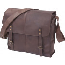 Brown Leather Military Canvas Medic Shoulder Bag