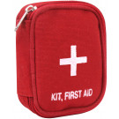 Red Zippered White Cross Emergency First Aid Kit