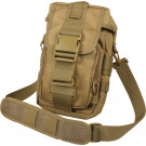 Coyote Brown Military MOLLE Tactical Flexipack Shoulder Bag