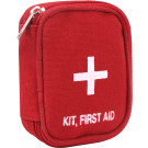 Red First Aid White Cross Zipper Pouch