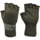 Olive Drab Tactical Fingerless Glove Liner Insert Wool Gloves USA Made