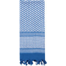 Blue & White Shemagh Heavyweight Arab Tactical Desert Keffiyeh Scarf