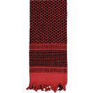 Red & Black Shemagh Heavyweight Arab Tactical Desert Keffiyeh Scarf