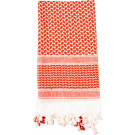 Red & White Shemagh Heavyweight Arab Tactical Desert Keffiyeh Scarf