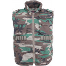 Woodland Camouflage Vintage Military Ranger Tactical Vest With Hood