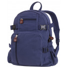 Navy Blue Vintage Canvas Compact Backpack