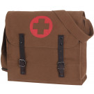Brown Vintage Medic Bag With Cross