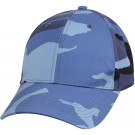 Sky Blue Camouflage Supreme Military Low Profile Baseball Cap