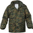 Digital Woodland Camouflage Military M-65 Field Jacket
