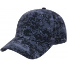 Midnight Digital Camouflage Supreme Military Low Profile Baseball Cap