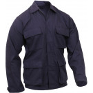 Navy Blue Military Rip-Stop Fatigue BDU Shirt