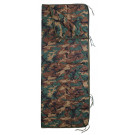 "Woodland Camouflage Rip-Stop Poncho Liner With Zipper - 62"" x 82"""