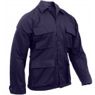 Navy Blue Military Polyester/Cotton Fatigue BDU Shirt