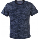 Midnight Navy Blue Digital Camouflage Military Short Sleeve T-Shirt