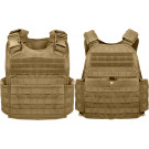 Coyote Brown Tactical MOLLE Plate Carrier Assault Vest