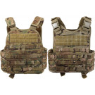 Multi Cam Military MOLLE Tactical Plate Carrier Assault Vest