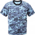 Sky Blue Digital Camouflage Kids Military Tactical T-Shirt
