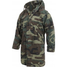 Woodland Camouflage Vintage US Army M51 Military Fishtail Parka Jacket