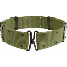 Olive Drab Classic Military Pistol Belt with Metal Buckle