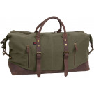 Olive Drab Cotton Canvas Extended Weekender Bag