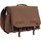 Earth Brown Concealed Carry Canvas Messenger Bag