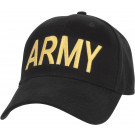 Black Army Embroidered Supreme Low Profile Adjustable Cap