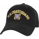 Black Military US Coast Guard Low Profile Adjustable Cap
