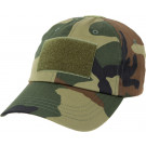 Woodland Camouflage Military Low Profile Adjustable Tactical Operator Cap