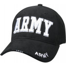 Black Military US Army Deluxe Low Profile Adjustable Cap