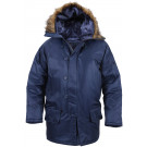Navy Blue Military N-3B Snorkel Parka Jacket